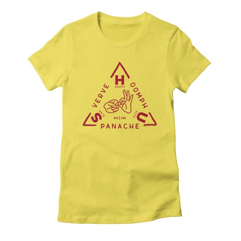 SHU Trifecta Women's Fitted T-Shirt by Slap Happy Ultd Emporium