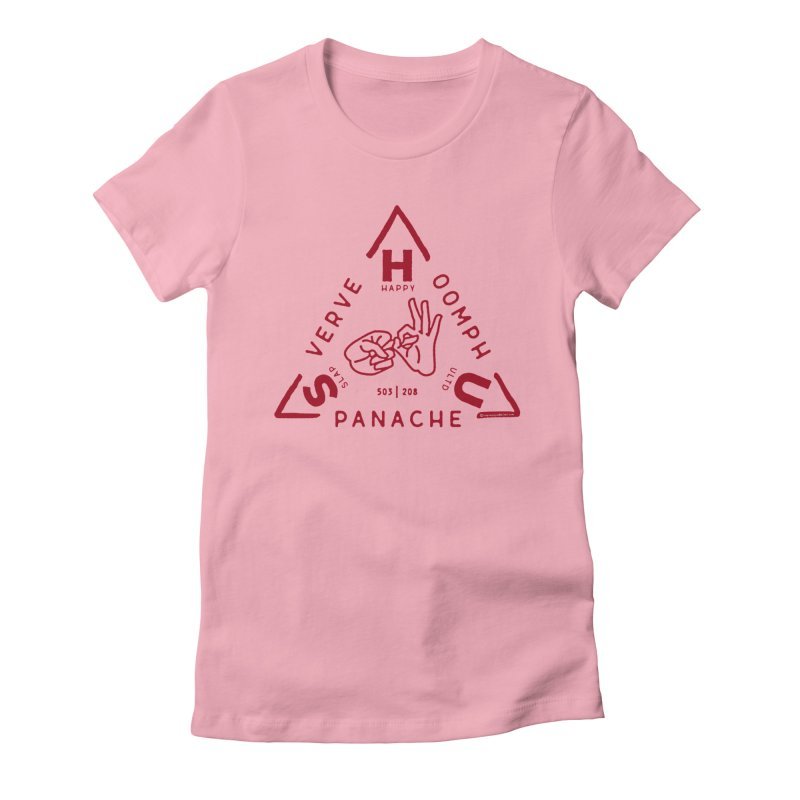 SHU Trifecta Women's Fitted T-Shirt by Slap Happy Ultd Emporium