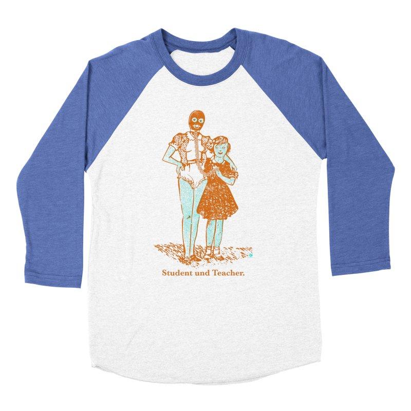 Student und Teacher Men's Baseball Triblend Longsleeve T-Shirt by Slap Happy Ultd Emporium