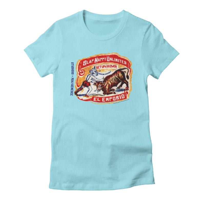 El Emporio Women's Fitted T-Shirt by Slap Happy Ultd Emporium