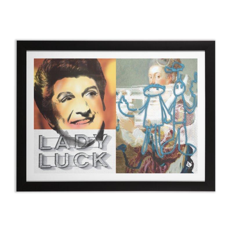 LADY LUCK Home Framed Fine Art Print by Slap Happy Ultd Emporium