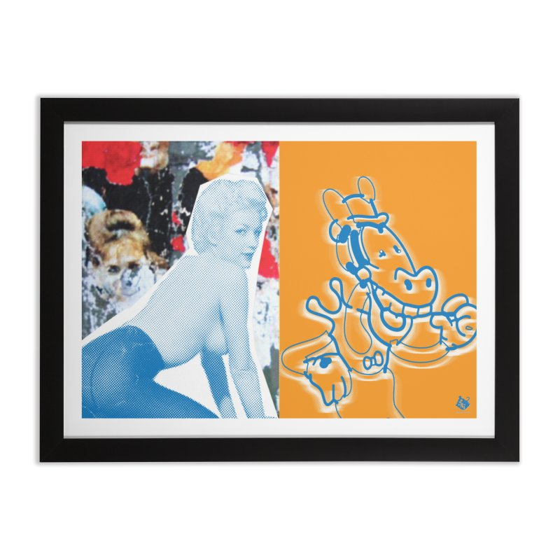 HYUK!HYUK! Home Framed Fine Art Print by Slap Happy Ultd Emporium
