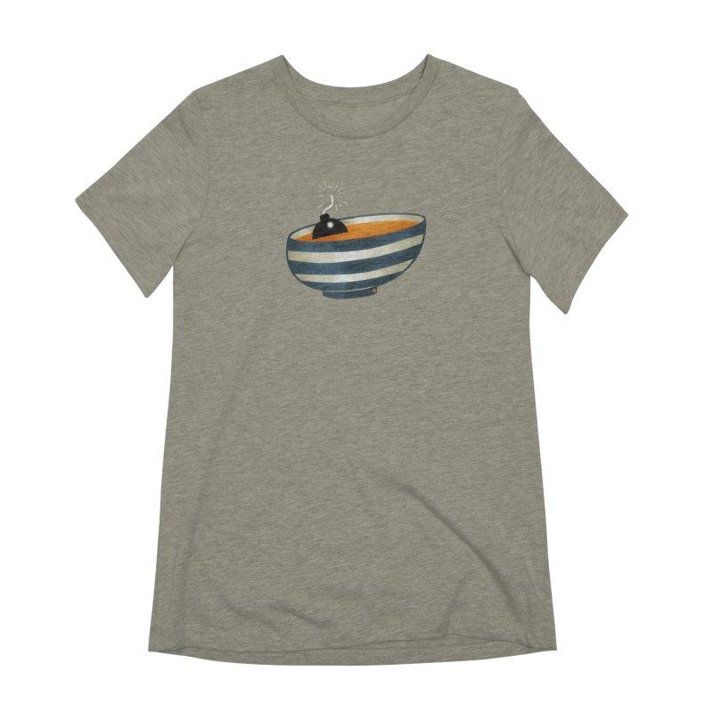 Soup Bomb! Women's Extra Soft T-Shirt by Slap Happy Ultd Emporium