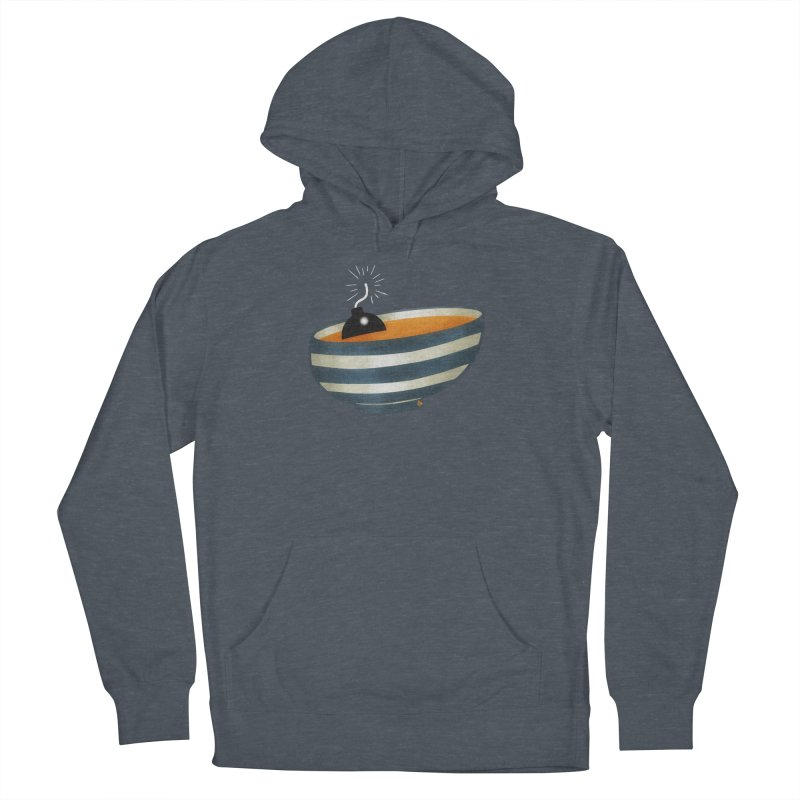 Soup Bomb! Men's French Terry Pullover Hoody by Slap Happy Ultd Emporium