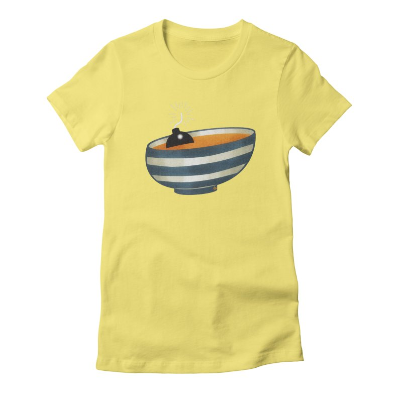 Soup Bomb! Women's Fitted T-Shirt by Slap Happy Ultd Emporium
