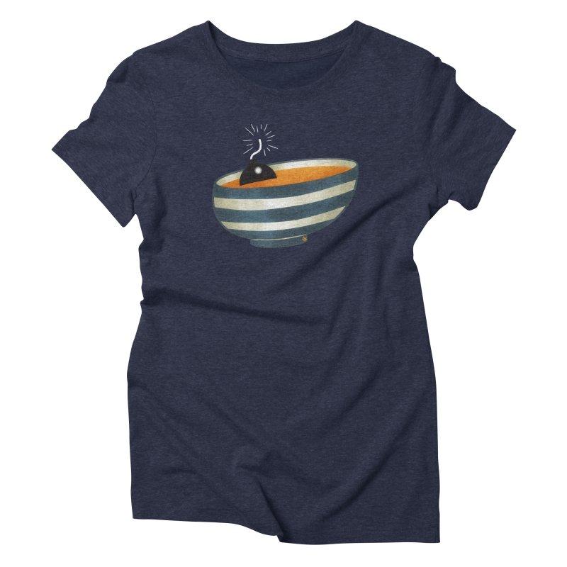 Soup Bomb! Women's Triblend T-Shirt by Slap Happy Ultd Emporium
