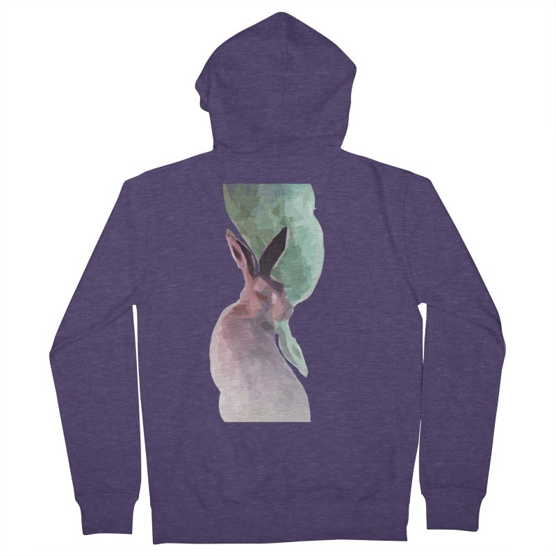 Rabbitious Men's French Terry Zip-Up Hoody by Slash Shay