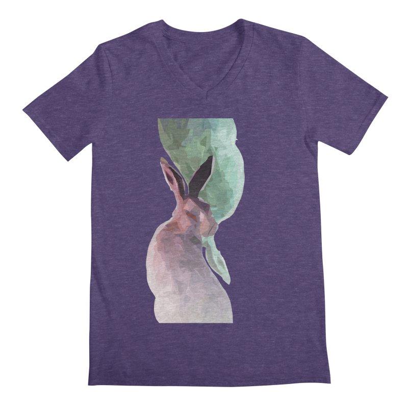 Rabbitious Men's Regular V-Neck by Slash Shay