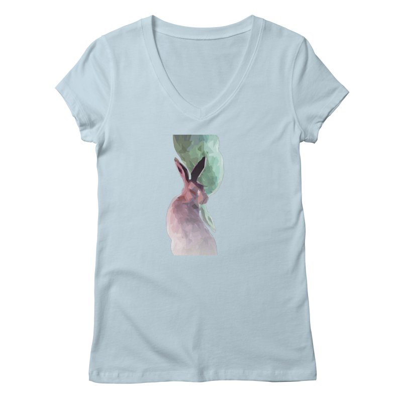 Rabbitious Women's V-Neck by Slash Shay