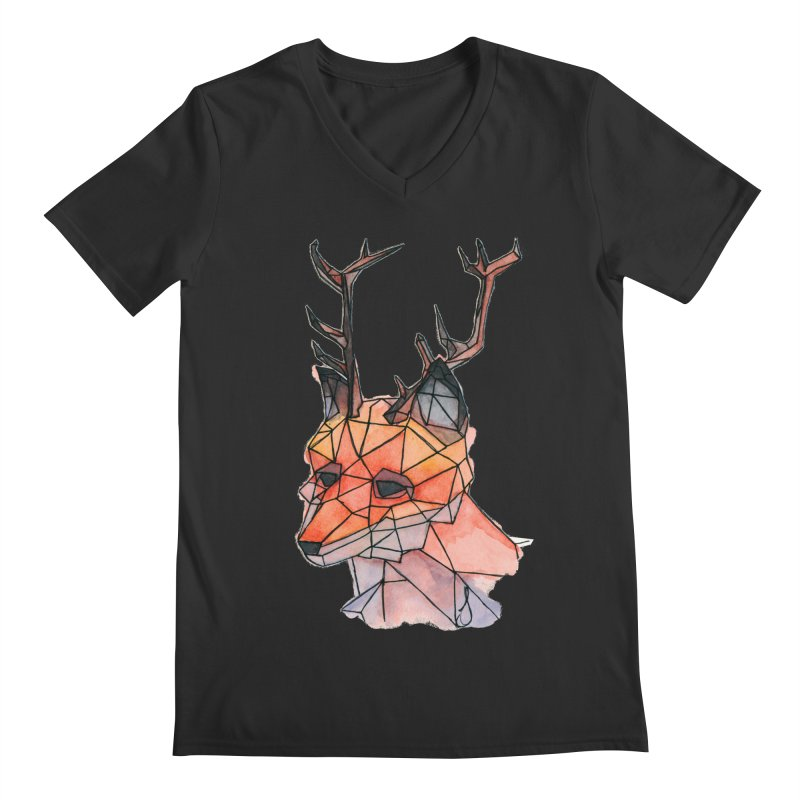 Foxalope Men's Regular V-Neck by Slash Shay