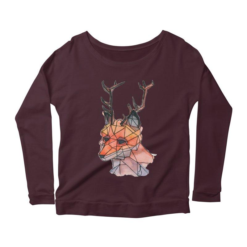 Foxalope Women's Scoop Neck Longsleeve T-Shirt by Slash Shay