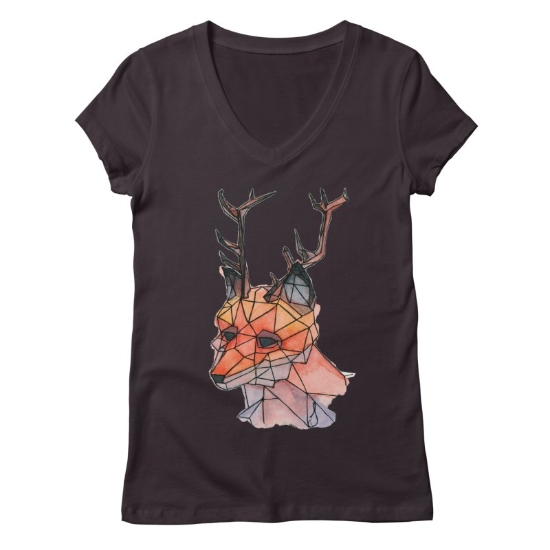 Foxalope Women's V-Neck by Slash Shay