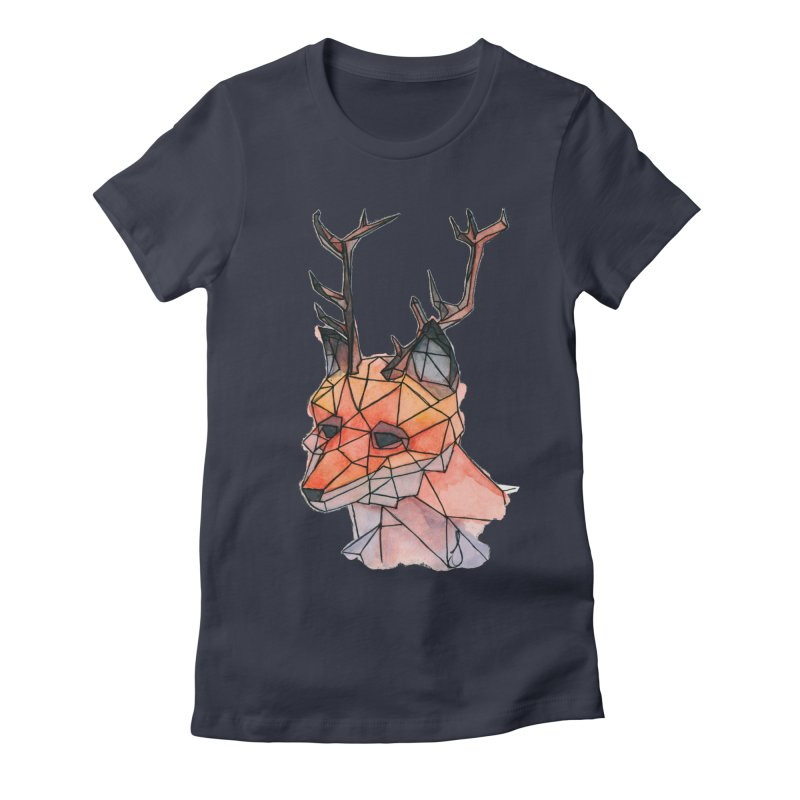 Foxalope Women's Fitted T-Shirt by Slash Shay