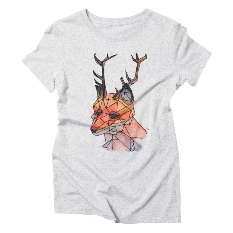 Foxalope Women's Triblend T-Shirt by Slash Shay
