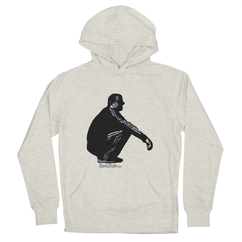 The Slavic Squat (with logo) Men's French Terry Pullover Hoody by SlavicStyle