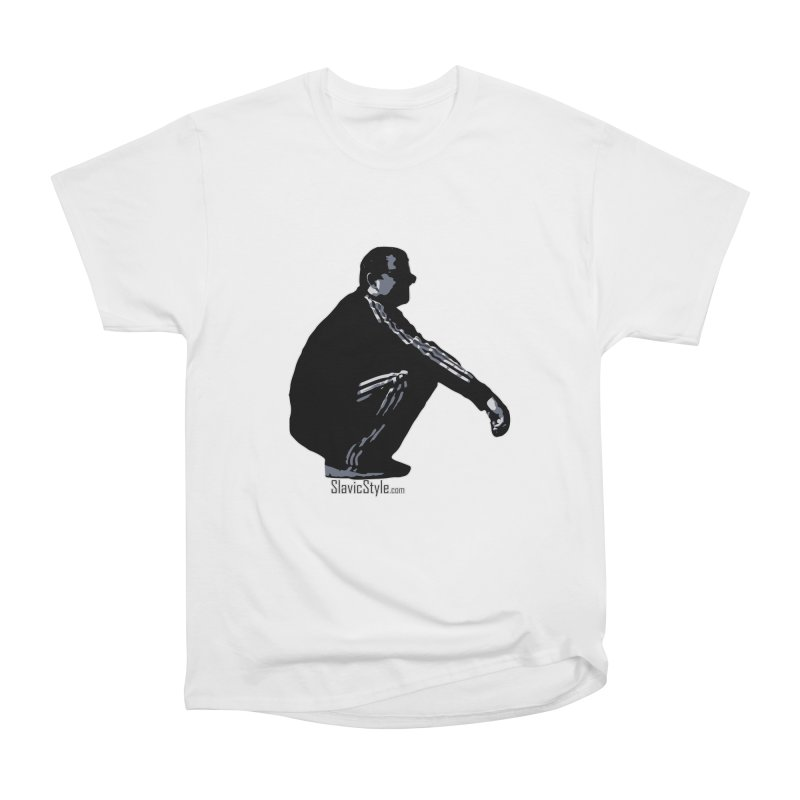The Slavic Squat (with logo) Men's Heavyweight T-Shirt by SlavicStyle