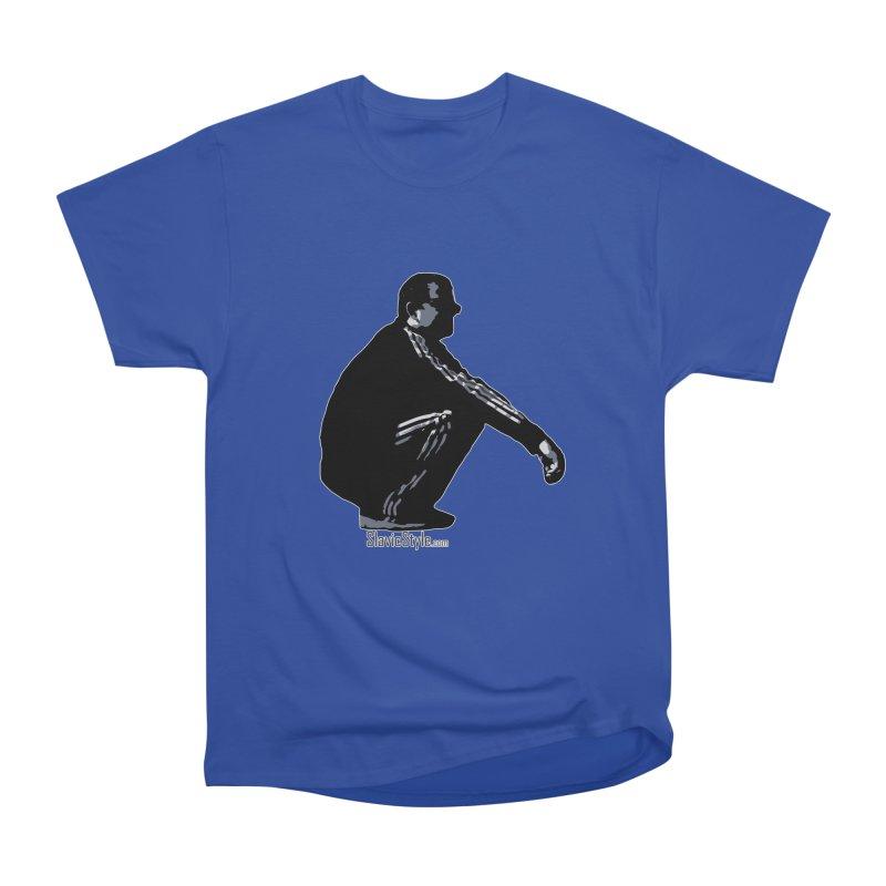 The Slavic Squat (with logo) Men's Heavyweight T-Shirt by SlavicStyle