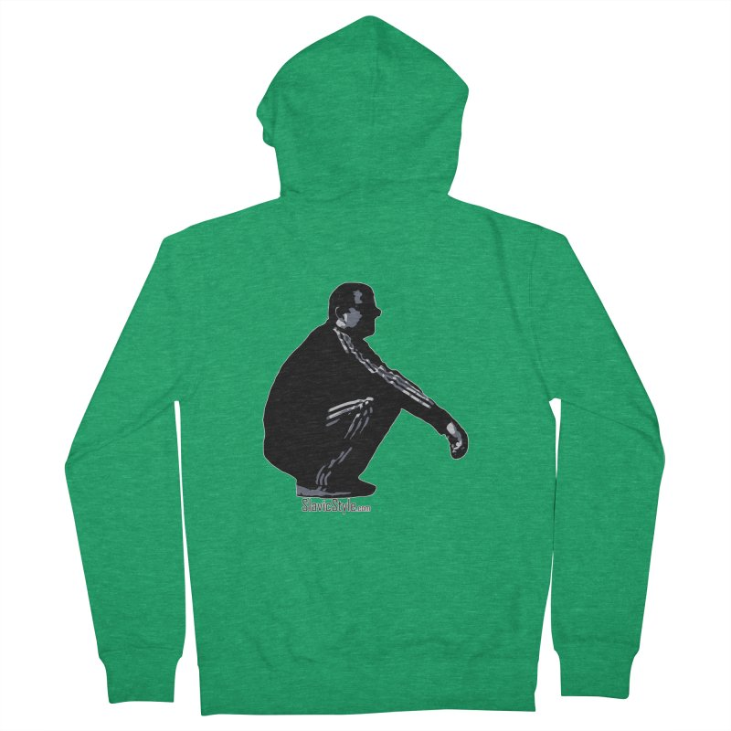 The Slavic Squat (with logo) Men's Zip-Up Hoody by SlavicStyle