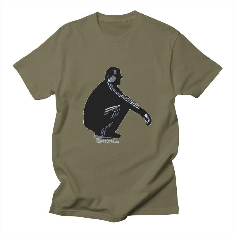 The Slavic Squat (with logo) Men's Regular T-Shirt by SlavicStyle