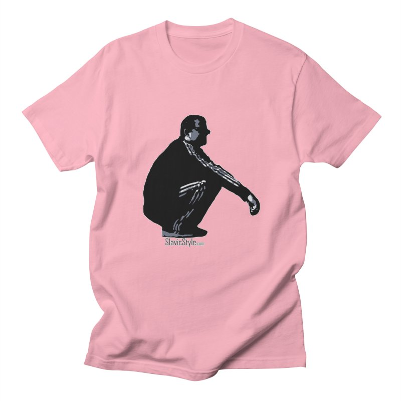 The Slavic Squat (with logo) Men's T-Shirt by SlavicStyle