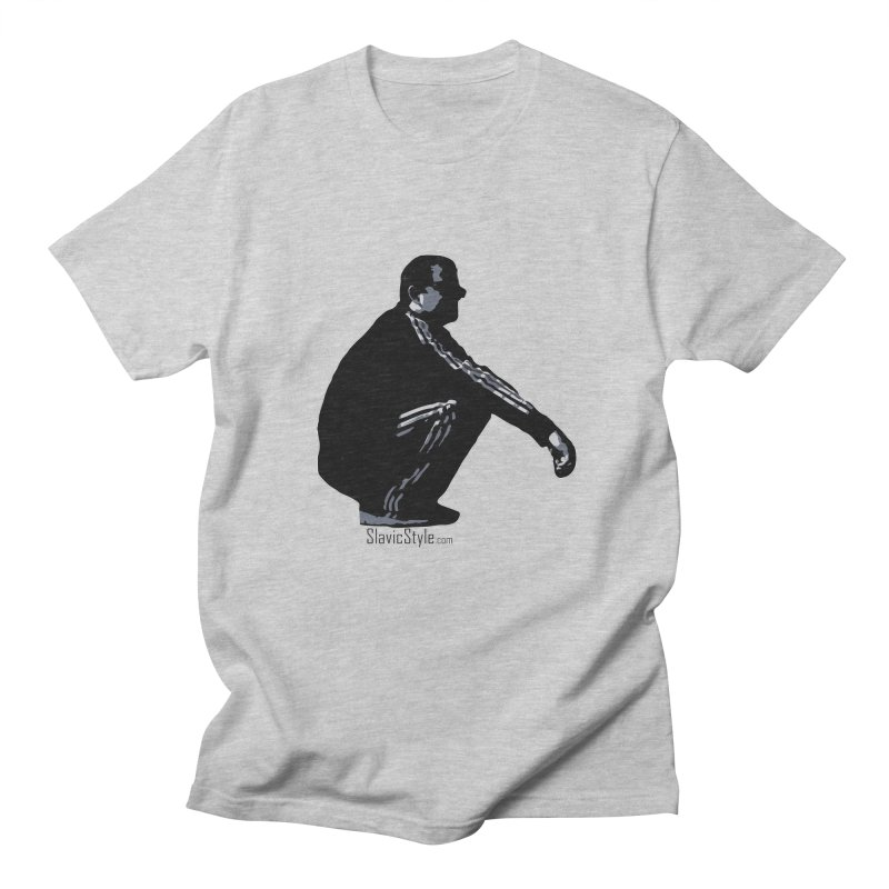 The Slavic Squat (with logo) Men's Regular T-Shirt by SlavicStyle