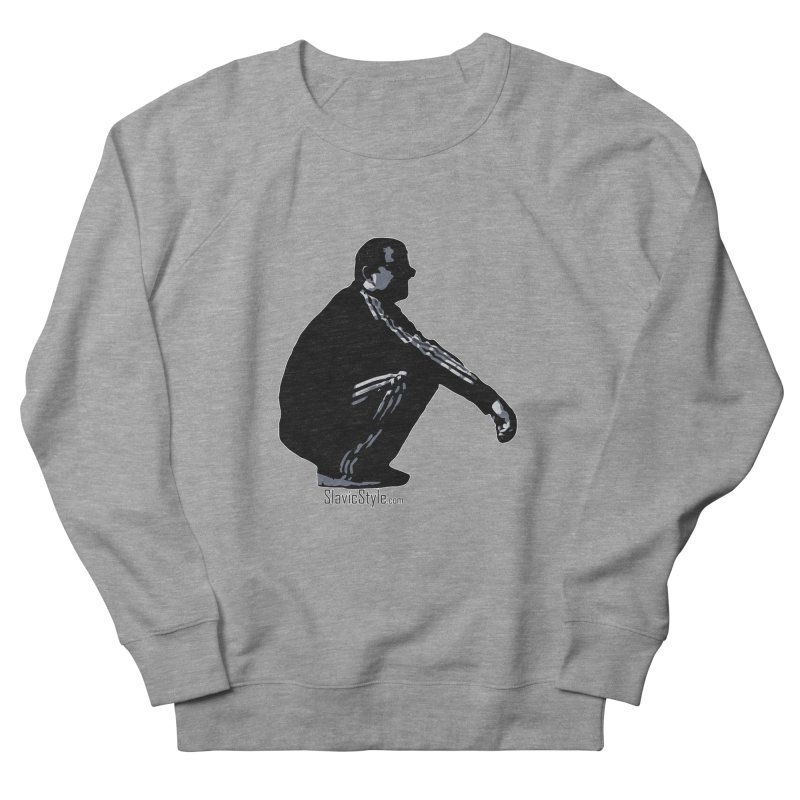 The Slavic Squat (with logo) Men's French Terry Sweatshirt by SlavicStyle