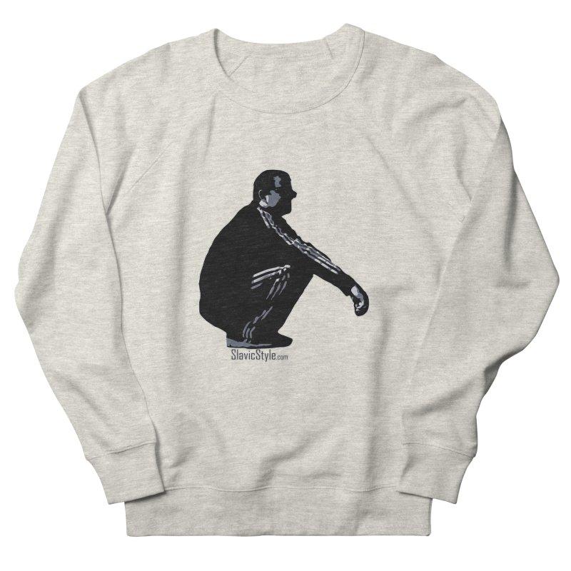 The Slavic Squat (with logo) Men's Sweatshirt by SlavicStyle