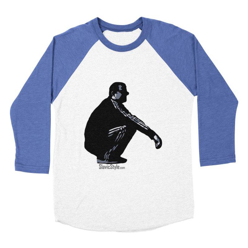The Slavic Squat (with logo) Men's Baseball Triblend Longsleeve T-Shirt by SlavicStyle