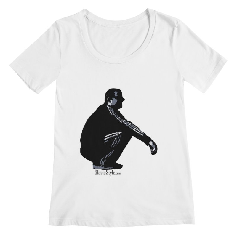 The Slavic Squat (with logo) Women's Regular Scoop Neck by SlavicStyle