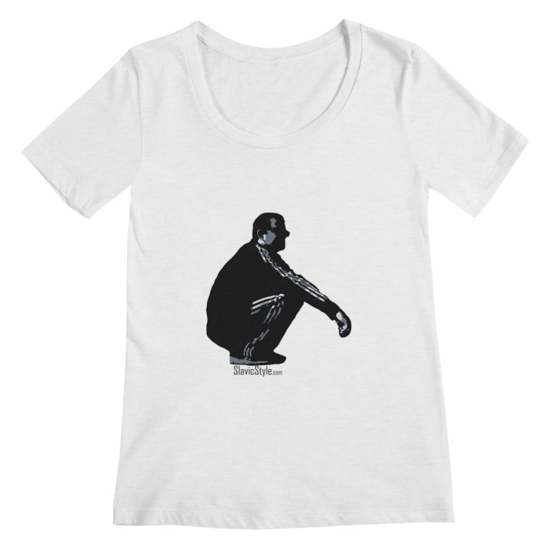The Slavic Squat (with logo) Women's Scoopneck by SlavicStyle