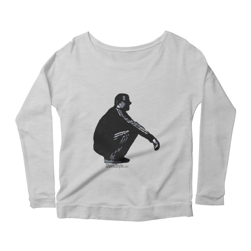 The Slavic Squat (with logo) Women's Scoop Neck Longsleeve T-Shirt by SlavicStyle