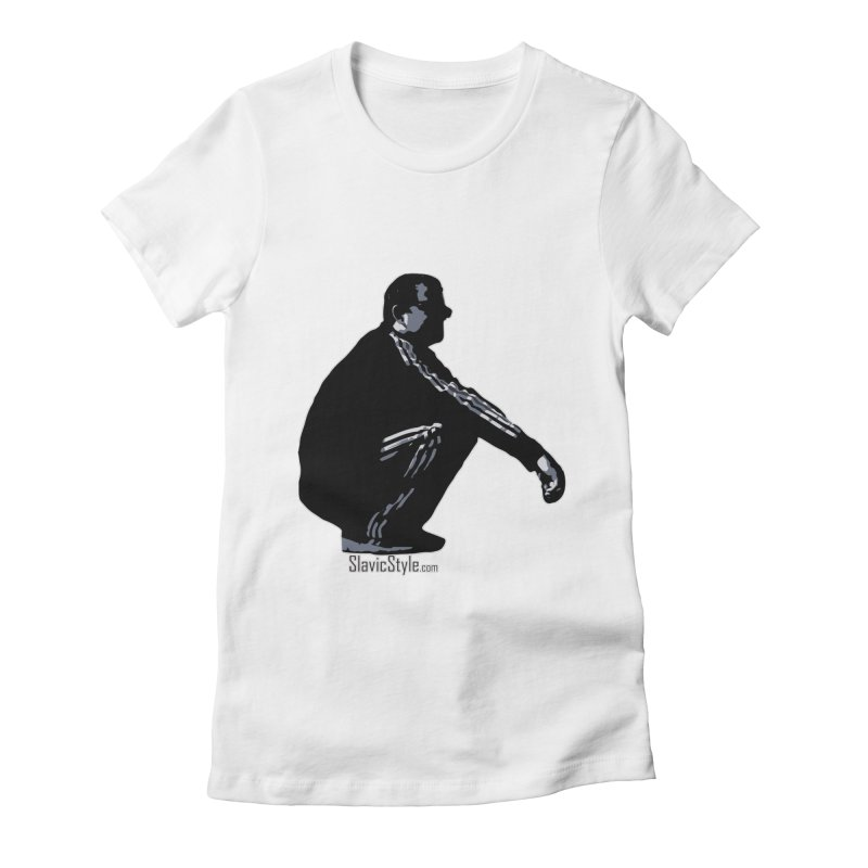 The Slavic Squat (with logo) Women's Fitted T-Shirt by SlavicStyle
