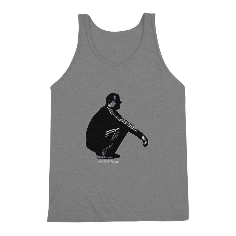 The Slavic Squat (with logo) Men's Triblend Tank by SlavicStyle