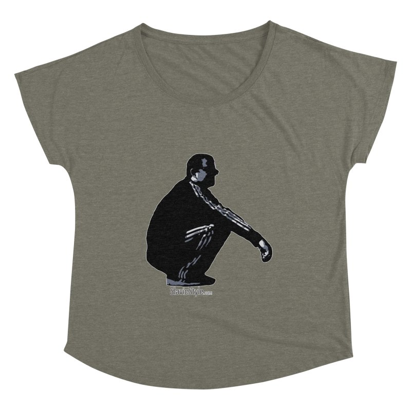 The Slavic Squat (with logo) Women's Scoop Neck by SlavicStyle