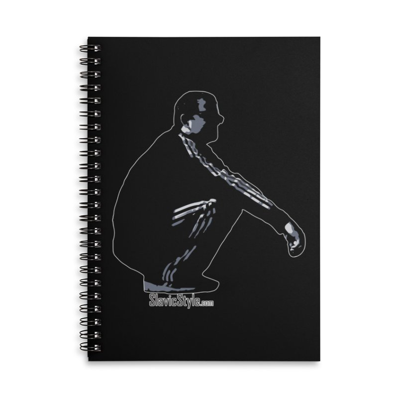 The Slavic Squat (with logo) Accessories Lined Spiral Notebook by SlavicStyle