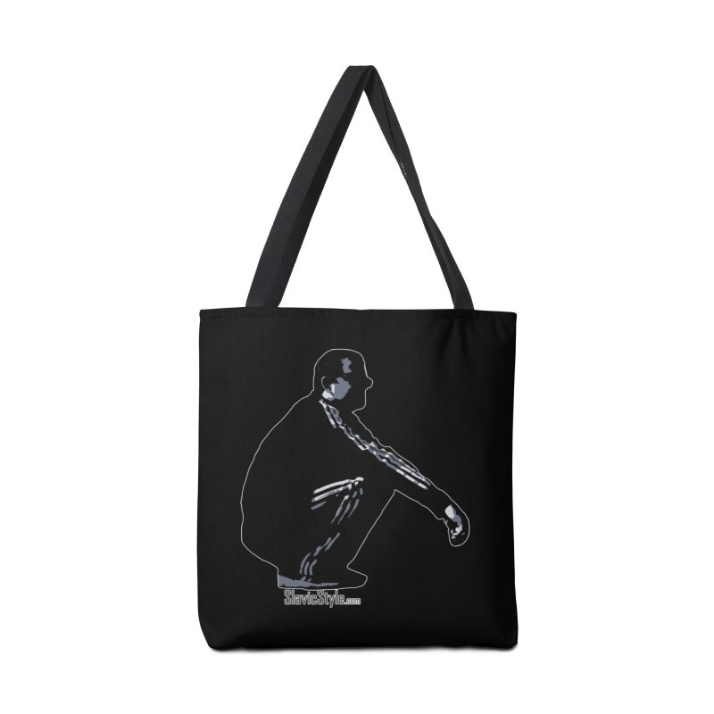 The Slavic Squat (with logo) Accessories Tote Bag Bag by SlavicStyle