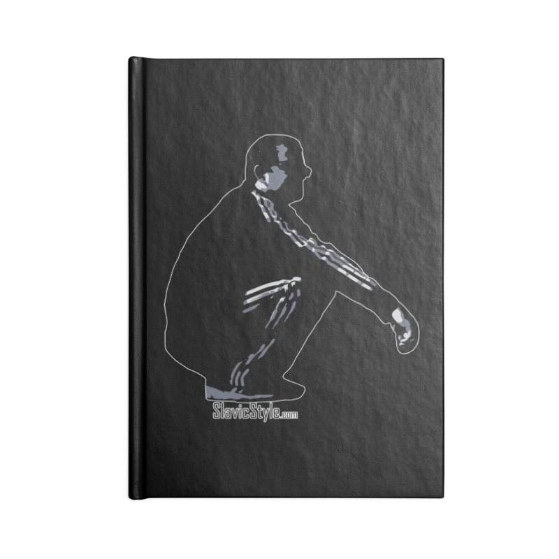 The Slavic Squat (with logo) Accessories Lined Journal Notebook by SlavicStyle