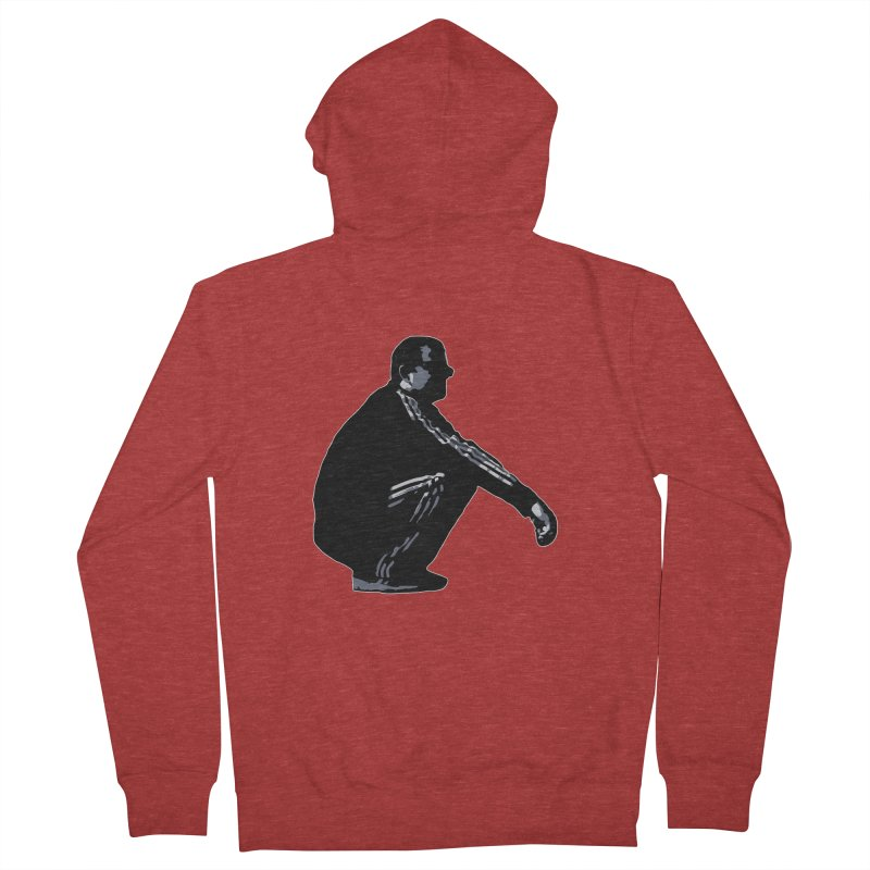 The Slavic Squat (without logo) Men's French Terry Zip-Up Hoody by SlavicStyle