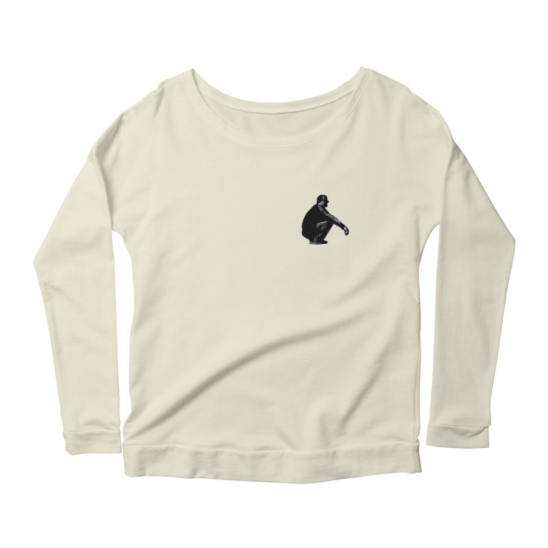 The Slavic Squat - Pocket Slav (without logo) Women's Longsleeve Scoopneck  by SlavicStyle
