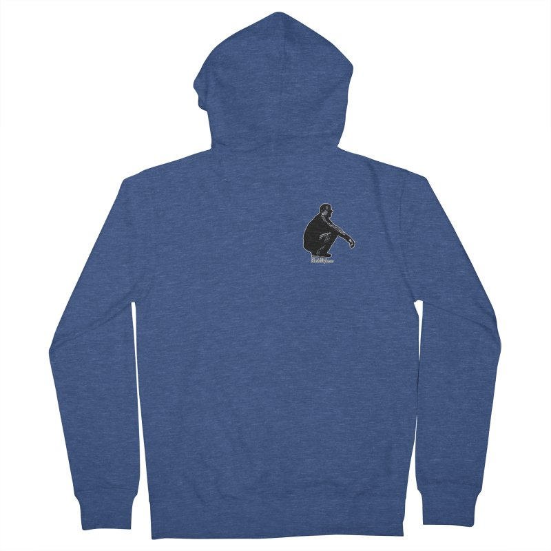 The Slavic Squat - Pocket Slav (with logo) Men's French Terry Zip-Up Hoody by SlavicStyle