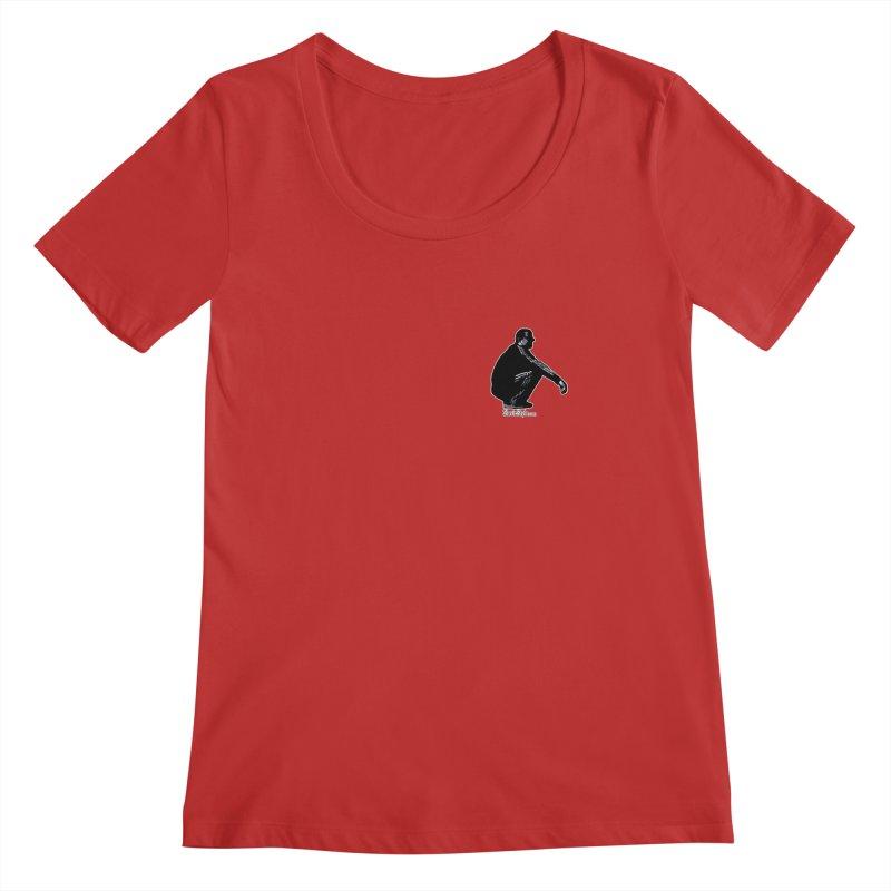 The Slavic Squat - Pocket Slav (with logo) Women's Regular Scoop Neck by SlavicStyle