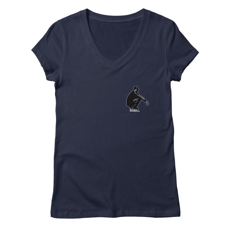 The Slavic Squat - Pocket Slav (with logo) Women's V-Neck by SlavicStyle