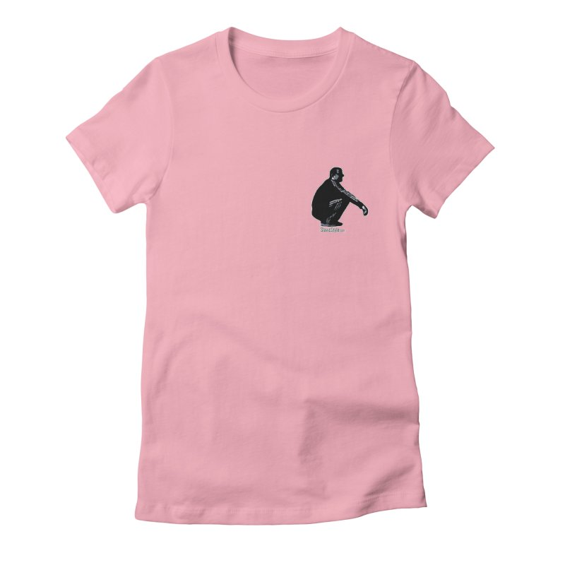 The Slavic Squat - Pocket Slav (with logo) Women's Fitted T-Shirt by SlavicStyle