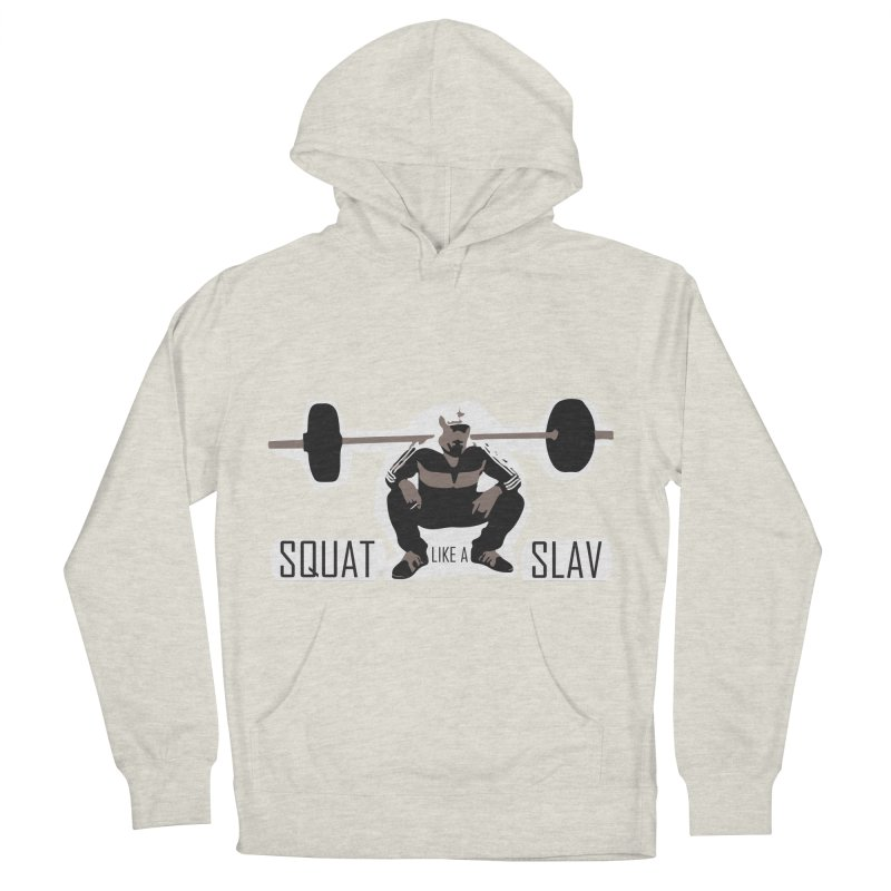 Squat Like a Gym Slav Men's Pullover Hoody by SlavicStyle
