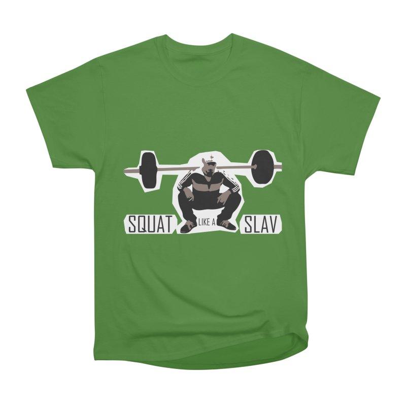 Squat Like a Gym Slav Men's Classic T-Shirt by SlavicStyle