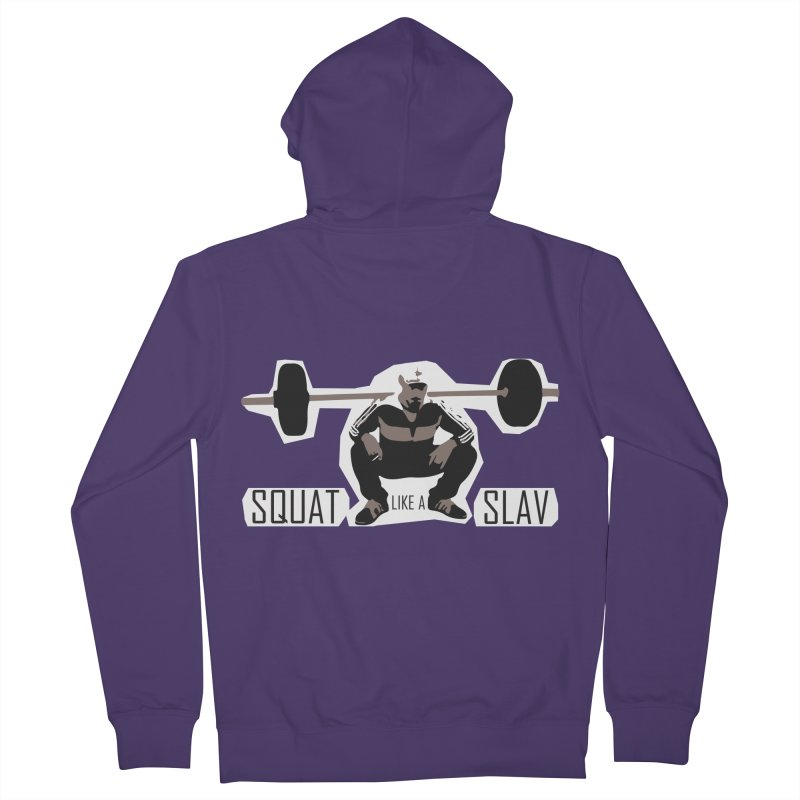 Squat Like a Gym Slav Women's French Terry Zip-Up Hoody by SlavicStyle