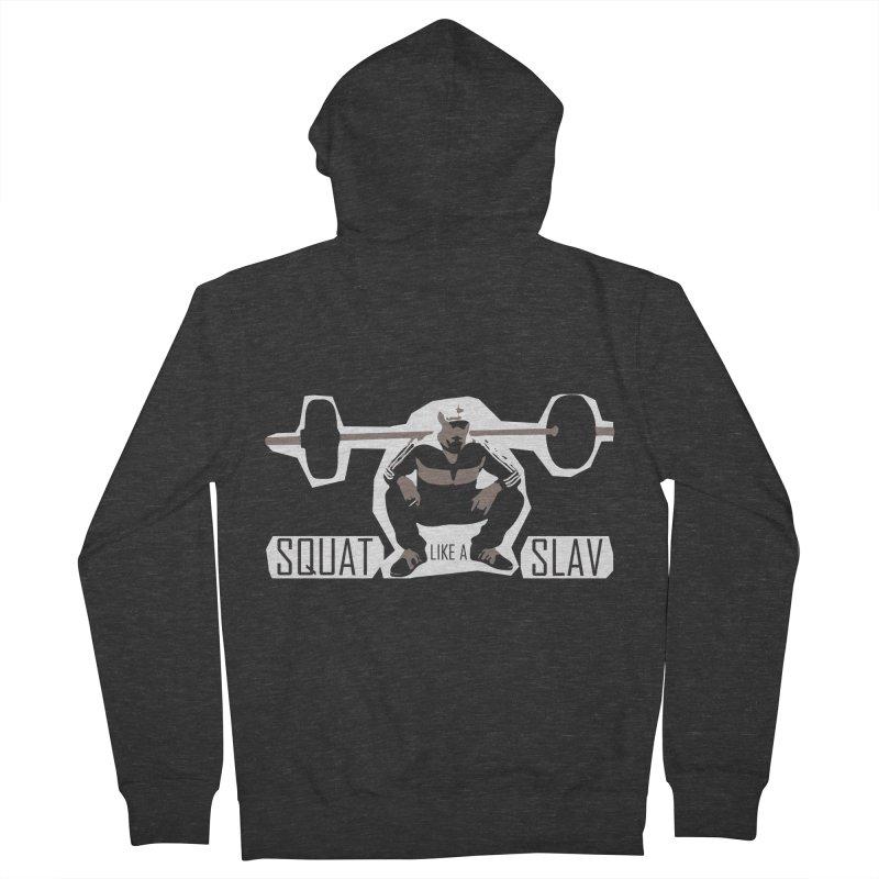 Squat Like a Gym Slav Men's Zip-Up Hoody by SlavicStyle