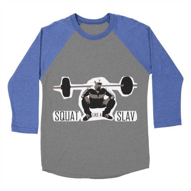 Squat Like a Gym Slav Women's Baseball Triblend T-Shirt by SlavicStyle