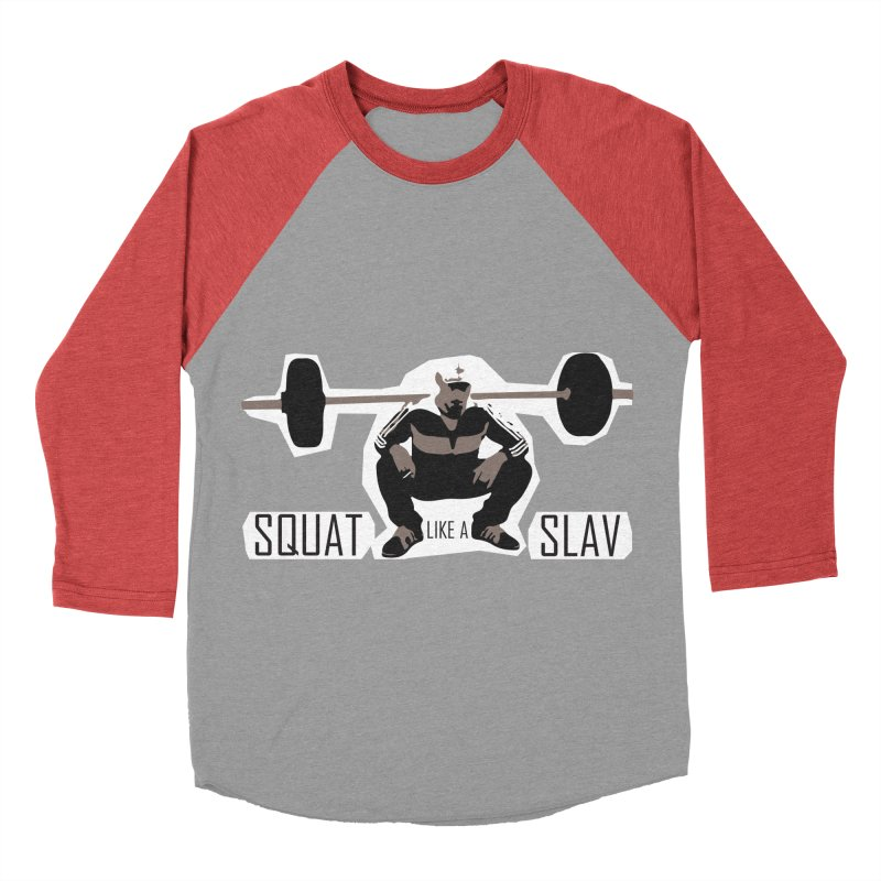 Squat Like a Gym Slav Women's Baseball Triblend Longsleeve T-Shirt by SlavicStyle