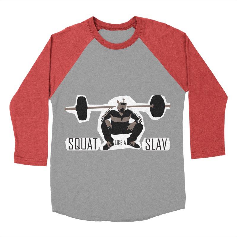 Squat Like a Gym Slav Men's Baseball Triblend T-Shirt by SlavicStyle